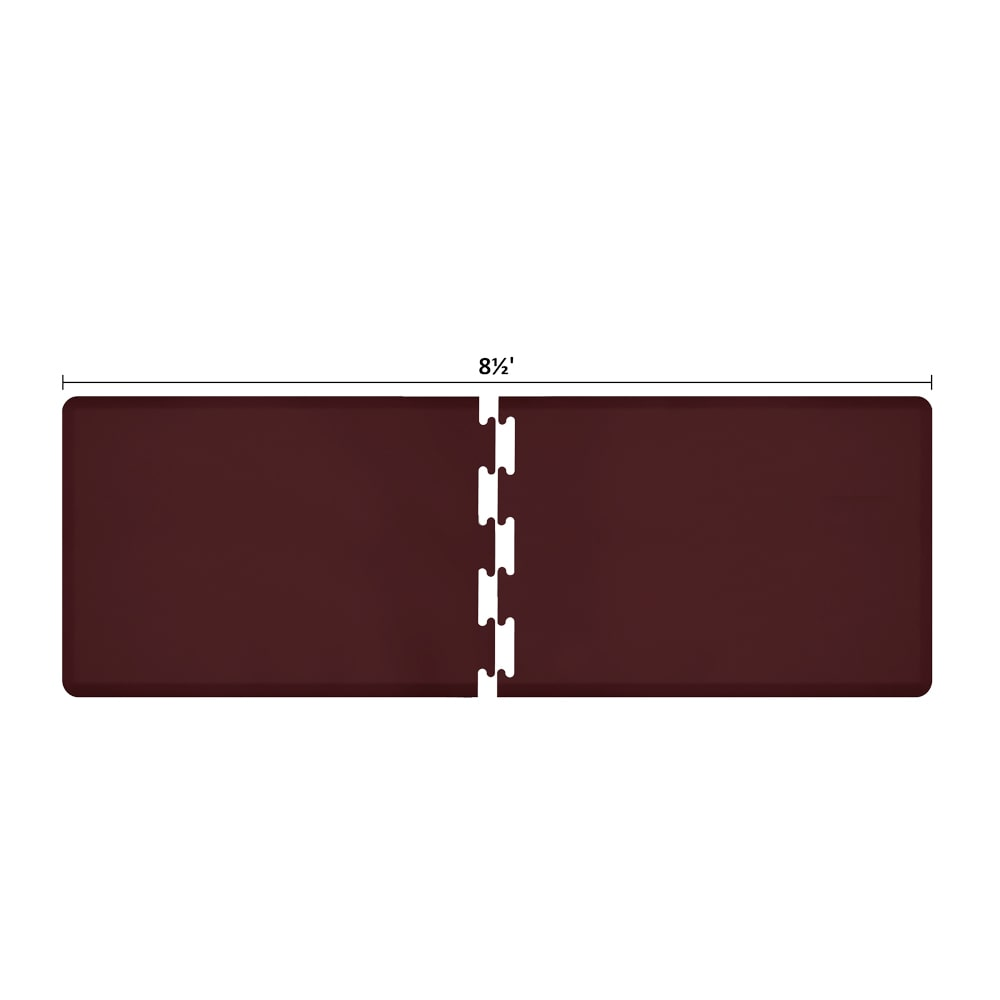 Wellness Mats RS3WMP85BUR Puzzle Piece Runner w/ Non-Slip Top & Bottom, 8.5x3-ft, Burgundy