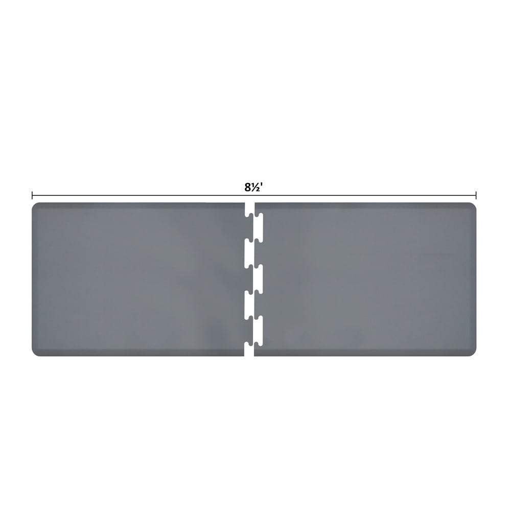 Wellness Mats RS3WMP85GRY Puzzle Piece Runner w/ Non-Slip Top & Bottom, 8.5x3-ft, Gray