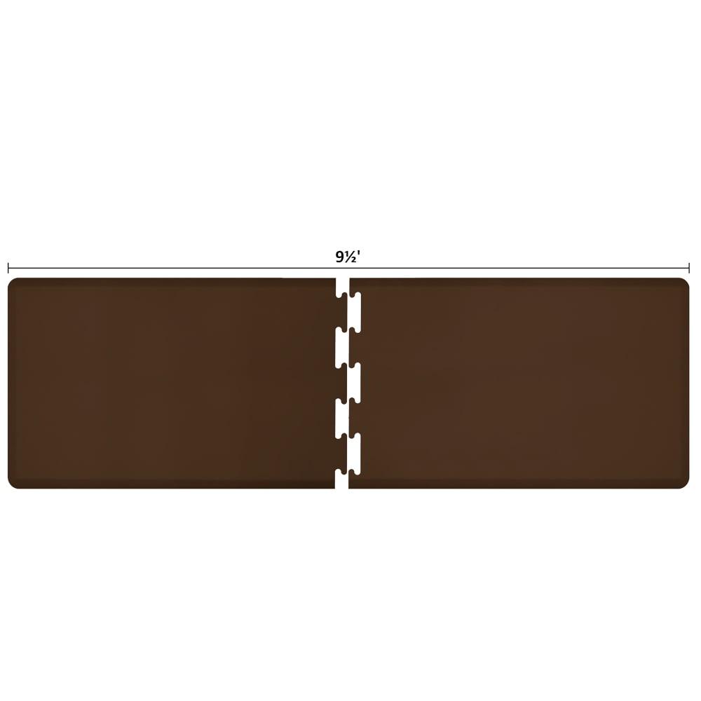 Wellness Mats RS3WMP95BRN Puzzle Piece Runner w/ Non-Slip Top & Bottom, 9.5x3-ft, Brown