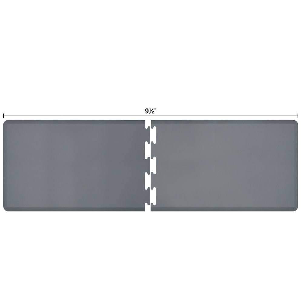 Wellness Mats RS3WMP95GRY Puzzle Piece Runner w/ Non-Slip Top & Bottom, 9.5x3-ft, Gray