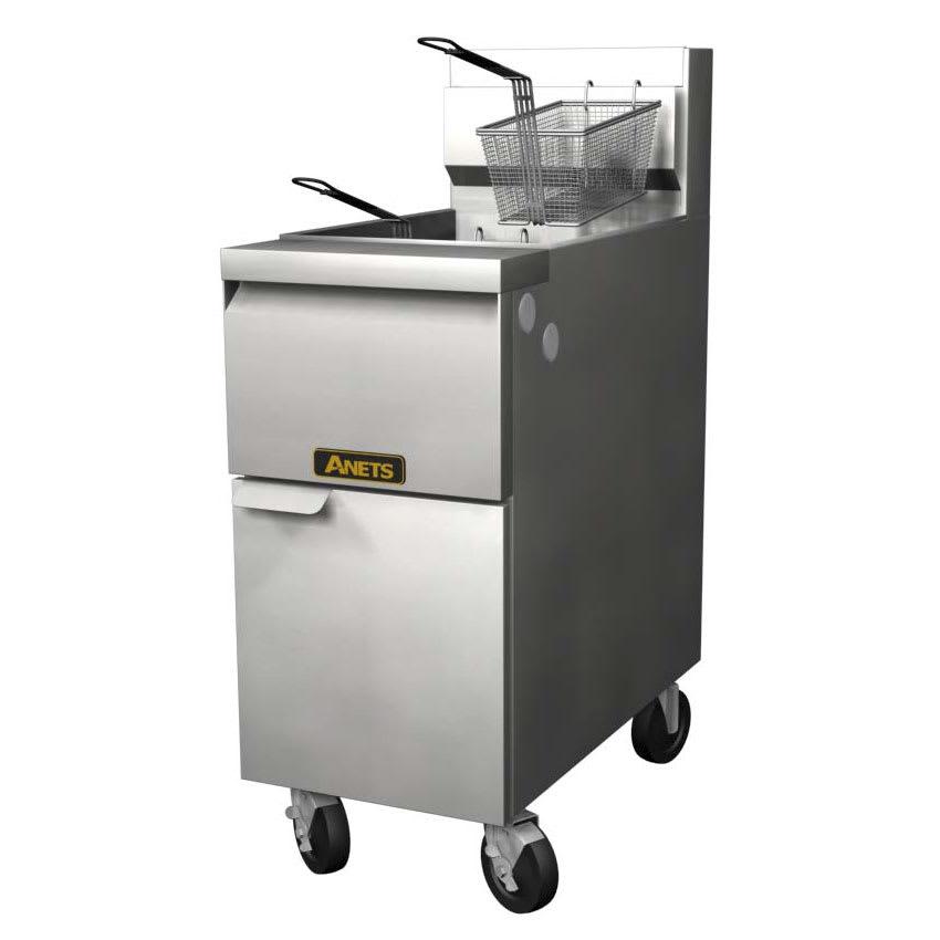 Anets 14GS Gas Fryer - (1) 50 lb Vat, Floor Model, LP