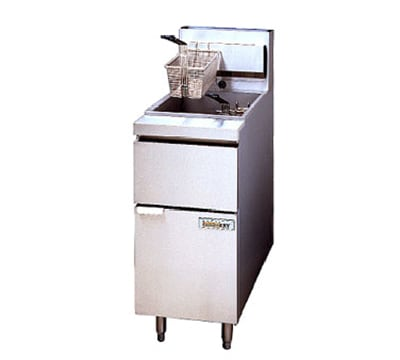 Anets 14GSSFF Gas Fryer - (1) 50-lb Vat, Floor Model, NG