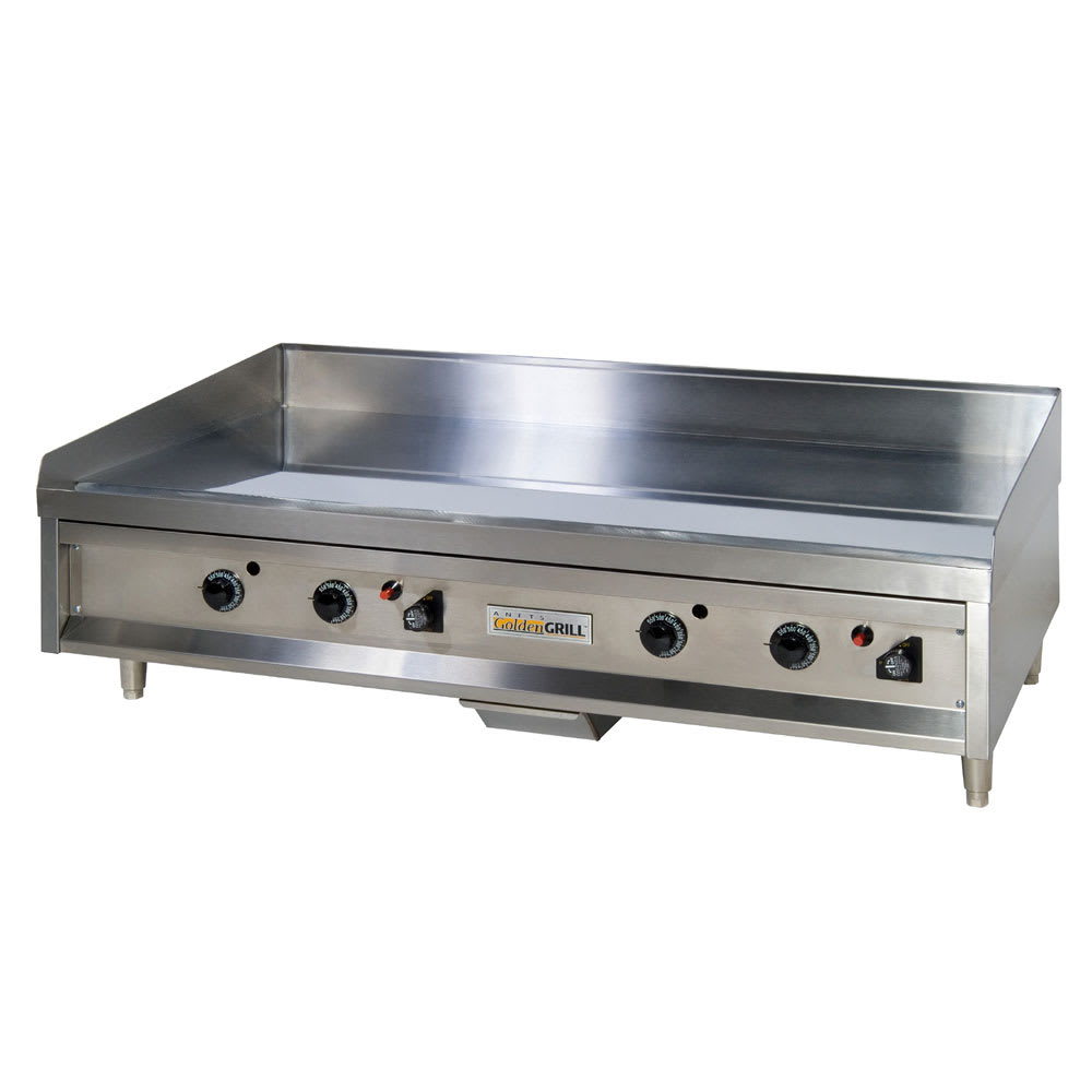 "Anets A24X48 48"" Gas Griddle - Manual, 3/4"" Steel Plate, LP"