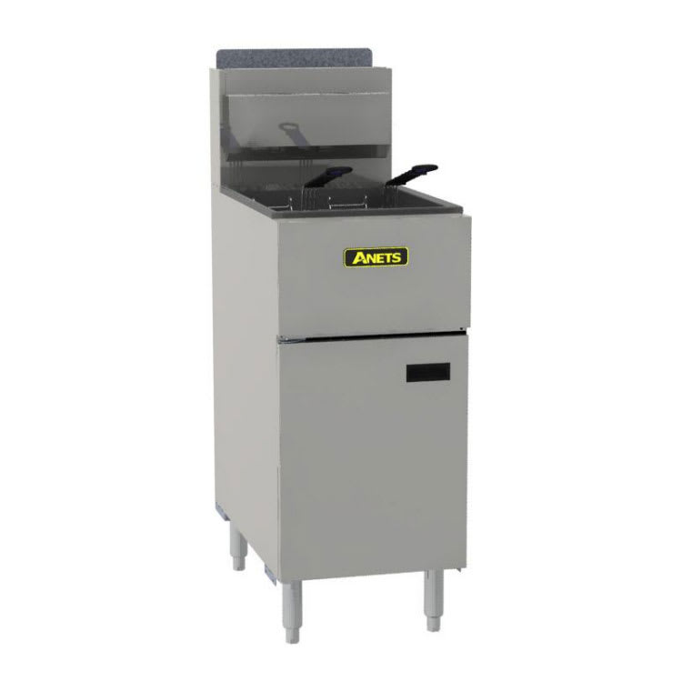 Anets SLG50 Gas Fryer - (1) 50 lb Vat, Floor Model, LP