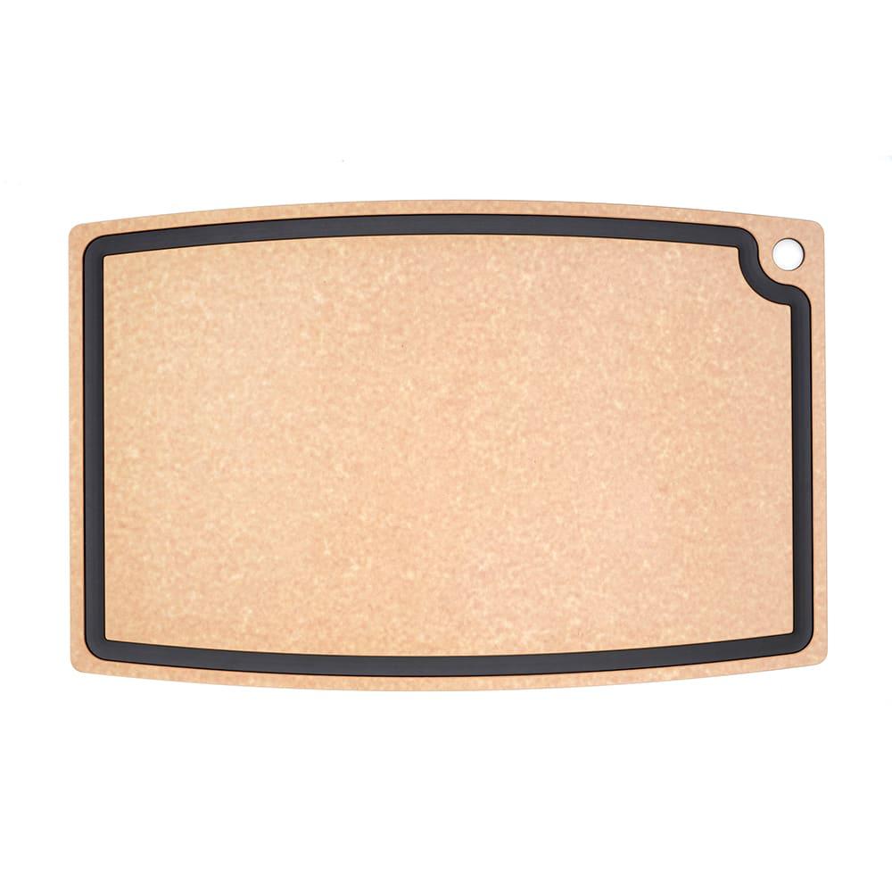 """Epicurean 006-27180102 27 x 18"""" Cutting Board w/ Juice Groove, Natural w/ Slate Core"""