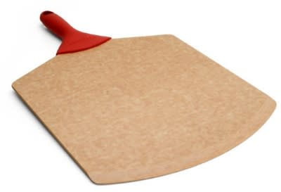 Epicurean 007-18120101EA 18 x 12-in Pizza Peel, Beveled Edge, Natural w/ Red Handle