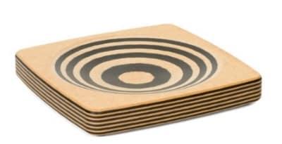 "Epicurean 027-080801025 Delicate Food Prep Mincing Bowl, 8 x 8"", Natural w/ Slate Trim"