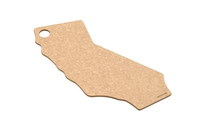 """Epicurean 032-CA0102 State Shape Novelty Cutting Board, 12x14"""", California, Natural/Slate"""