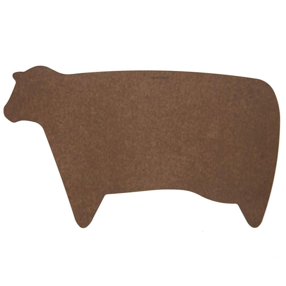 "Epicurean 032-COW0301 Modern Cow Cutting Board, .25"", Nutmeg"