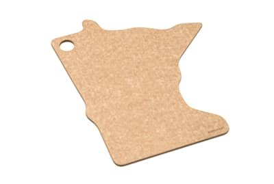 "Epicurean 032-MN0102 State Shape Novelty Cutting Board, 12x14"", Minnesota, Natural/Slate"