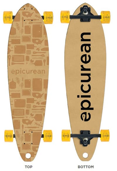 "Epicurean 032-SKATE0102 34"" Skateboard Design By Grow Anthology, Natural"