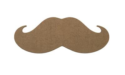 """Epicurean 032-STACHE0301 Hipster Mustache Cutting Board, 20x8x.25"""", Nutmeg"""