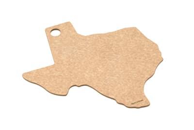 "Epicurean 032-TX0102 State Shape Novelty Cutting Board, 12x14"", Texas, Natural/Slate"