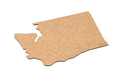 """Epicurean 032-WA0102 State Shape Novelty Cutting Board, 12x14"""", Washington, Natural/Slate"""