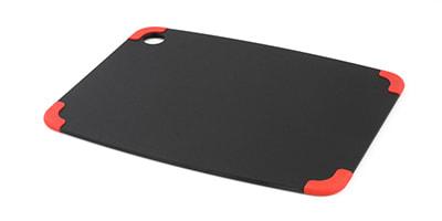 "Epicurean 202-15110201 Non Slip Cutting Board, 14.5x11.25"", Slate/Red"