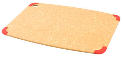"""Epicurean 202-18130101 Non Slip Cutting Board, 17.5x13"""", Natural/Red"""
