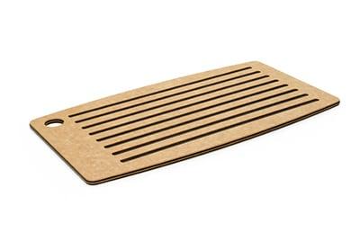 """Epicurean 024-18100102 Bread Cutting Board, 18x10"""", Natural/Slate"""
