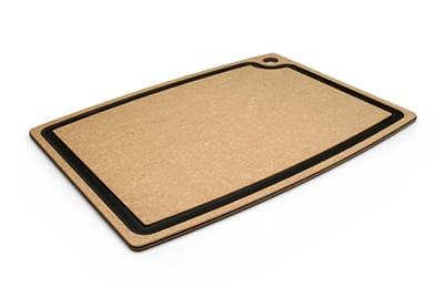 """Epicurean 003-20150102 Gourmet Cutting Board, 19.5x15"""", Natural/Slate"""