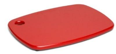 """Epicurean 404-120901 Eco Plastic Cutting Board, 12 x 9"""", Poly, Red w/ Gripper Feet"""