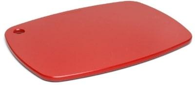 """Epicurean 404-181301 Eco Plastic Cutting Board, 18 x 13"""", Poly, Red w/ Gripper Feet"""
