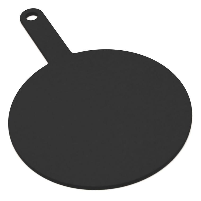 """Epicurean 429-151002 10"""" Round Pizza Board w/ 5"""" Handle, Slate"""