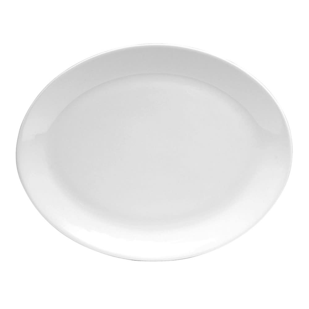 "Oneida F1400000391 15"" Oval Platter w/ Rolled Edge, Tundra, Oneida Collection"