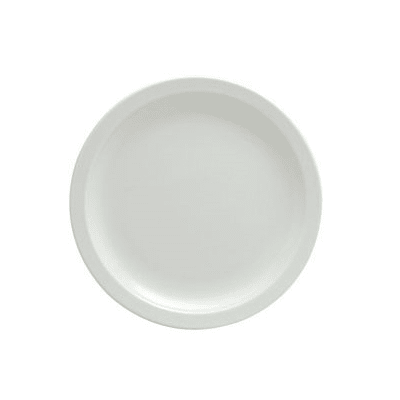 "Oneida F8000000147 10"" Round Buffalo Plate - Porcelain, Bright White"