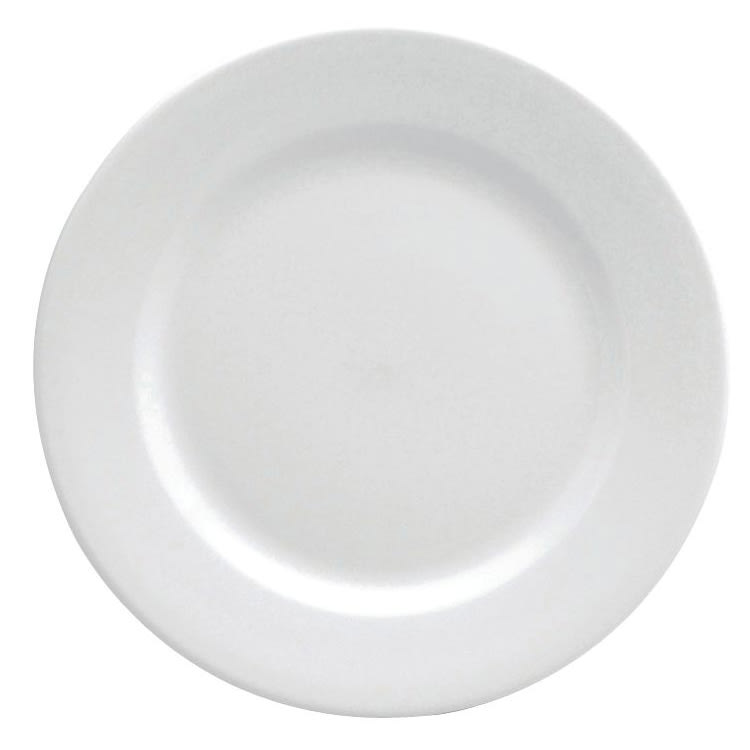 "Oneida F8010000111 5.5"" Buffalo Plate - Porcelain, Bright White"