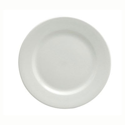 "Oneida F8010000132 8.13"" Buffalo Plate - Rolled Edge, Porcelain, Bright White"