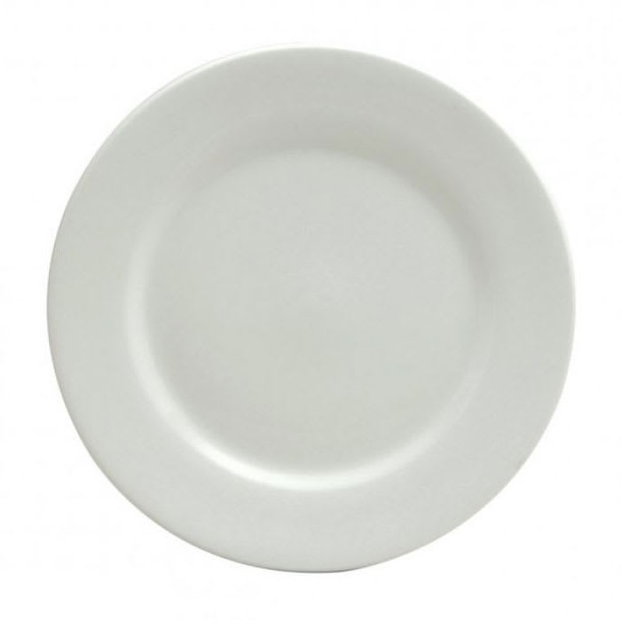"Oneida F8010000145 9.5"" Buffalo Plate - Porcelain, Bright White"