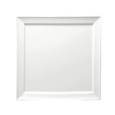"Oneida F8010000151S 10.25"" Square Buffalo Plate - Porcelain, Bright White"