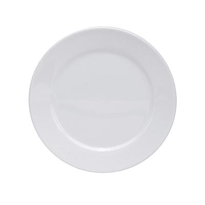 "Oneida F8010000156 11"" Round Buffalo Euro Plate - Porcelain, Bright White"