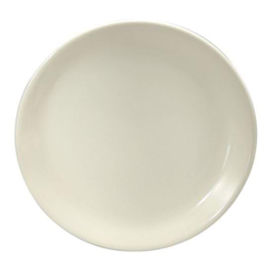 "Oneida F9000000151C 10.5"" Round Buffalo Plate - Porcelain, Cream White"