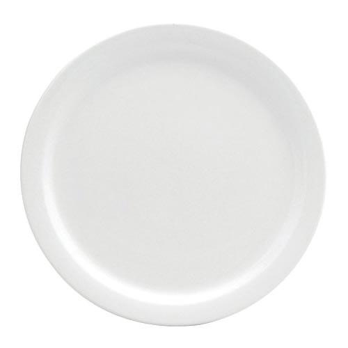 "Oneida F9000000155 11"" Round Buffalo Plate - Porcelain, Cream White"