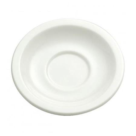 """Oneida F9010000501 5.5"""" Round Buffalo Saucer - Porcelain, Cream White"""