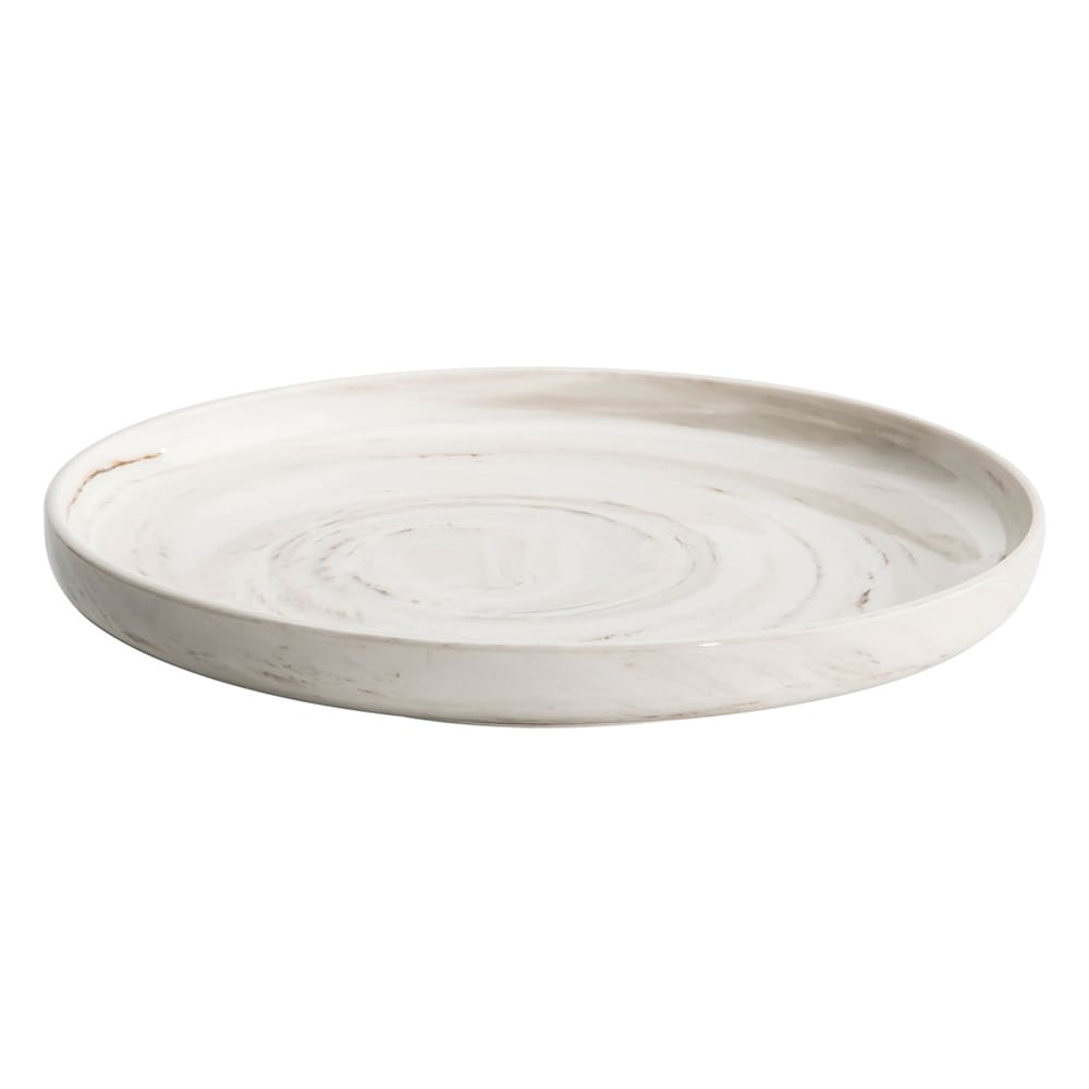 "Oneida L6200000156 11"" Round Plate - Porcelain, Marble"