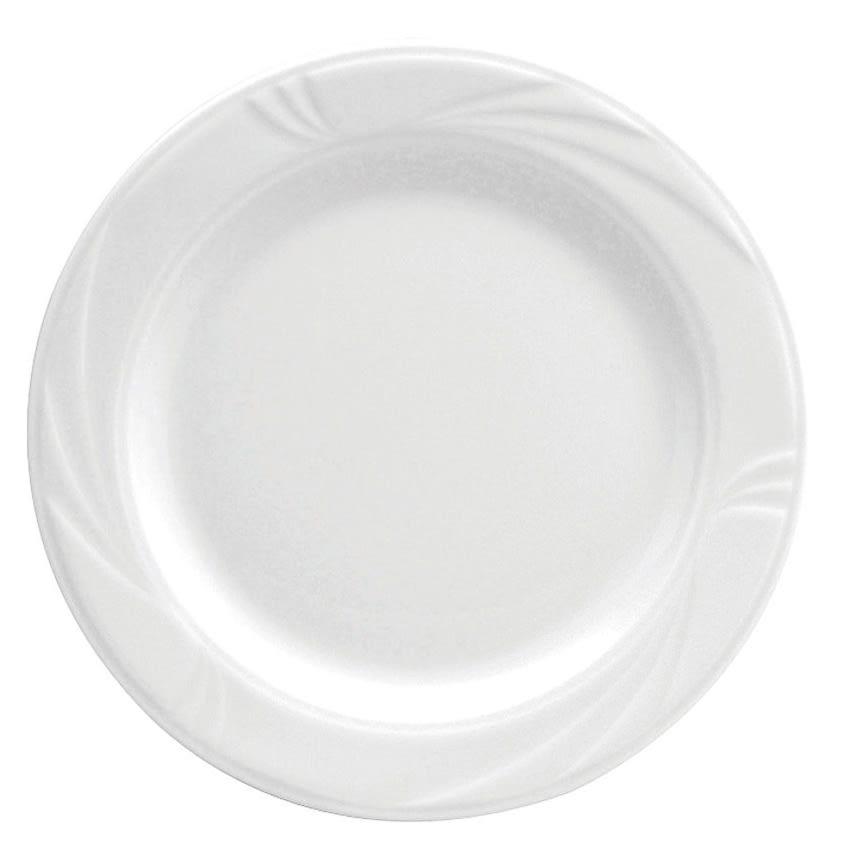 """Oneida R4510000139 9"""" Arcadia Plate - Medium Rim, Porcelain, Bright White"""