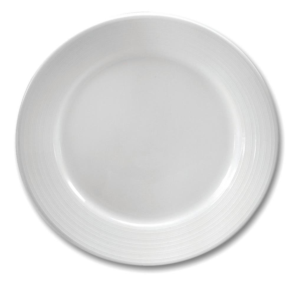 """Oneida R4570000162 11.88"""" Botticelli Plate - Porcelain, Bright White"""