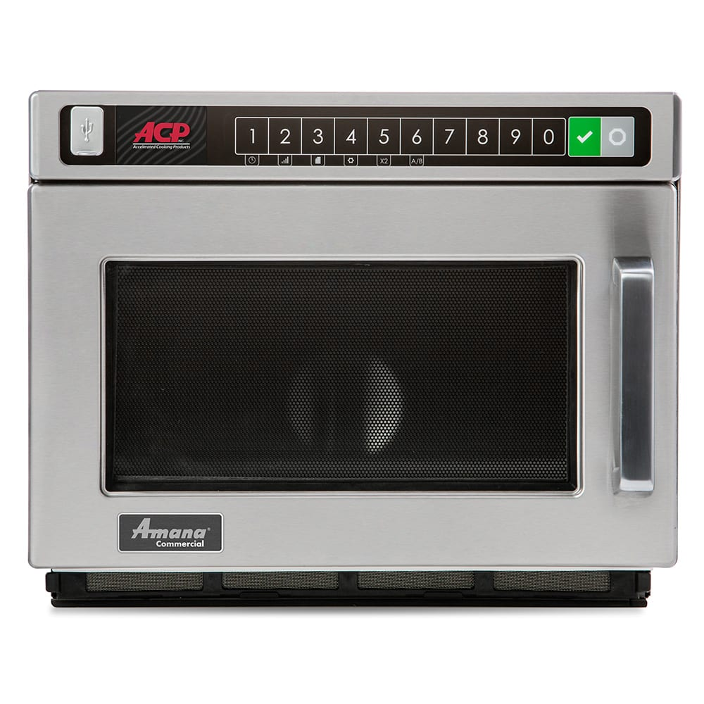 Amana HDC12A2 1200w Commercial Microwave w/ Touch Pad, 120v