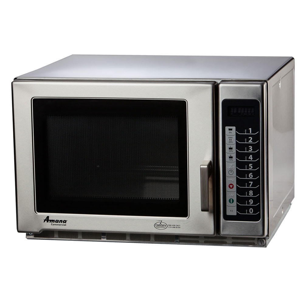 Amana RFS18TS 1800w Commercial Microwave w/ Braille Touch Pad, 240v/1ph