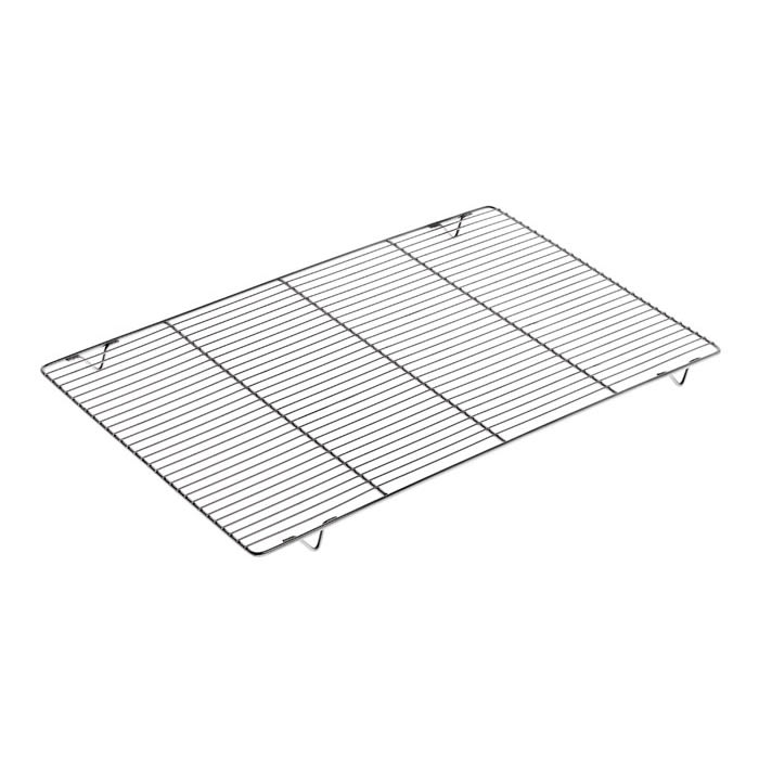 "Matfer 312212 Rectangular Wire Grate w/ Feet - 23.57"" x 15.75"", Stainless Steel"