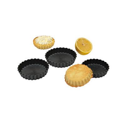 "Matfer 345657 3.5"" Round Fluted Exoglass® Tartlet Mold, Plastic"