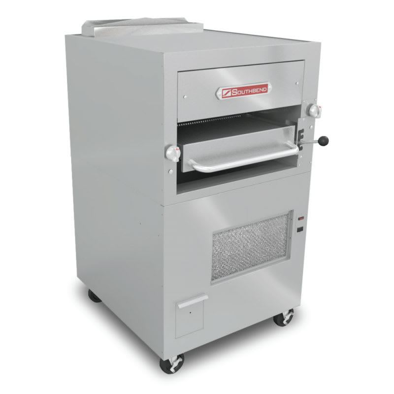 Southbend 171 Infrared Deck-Type Broiler w/ Enclosed Based & Warming Oven, NG
