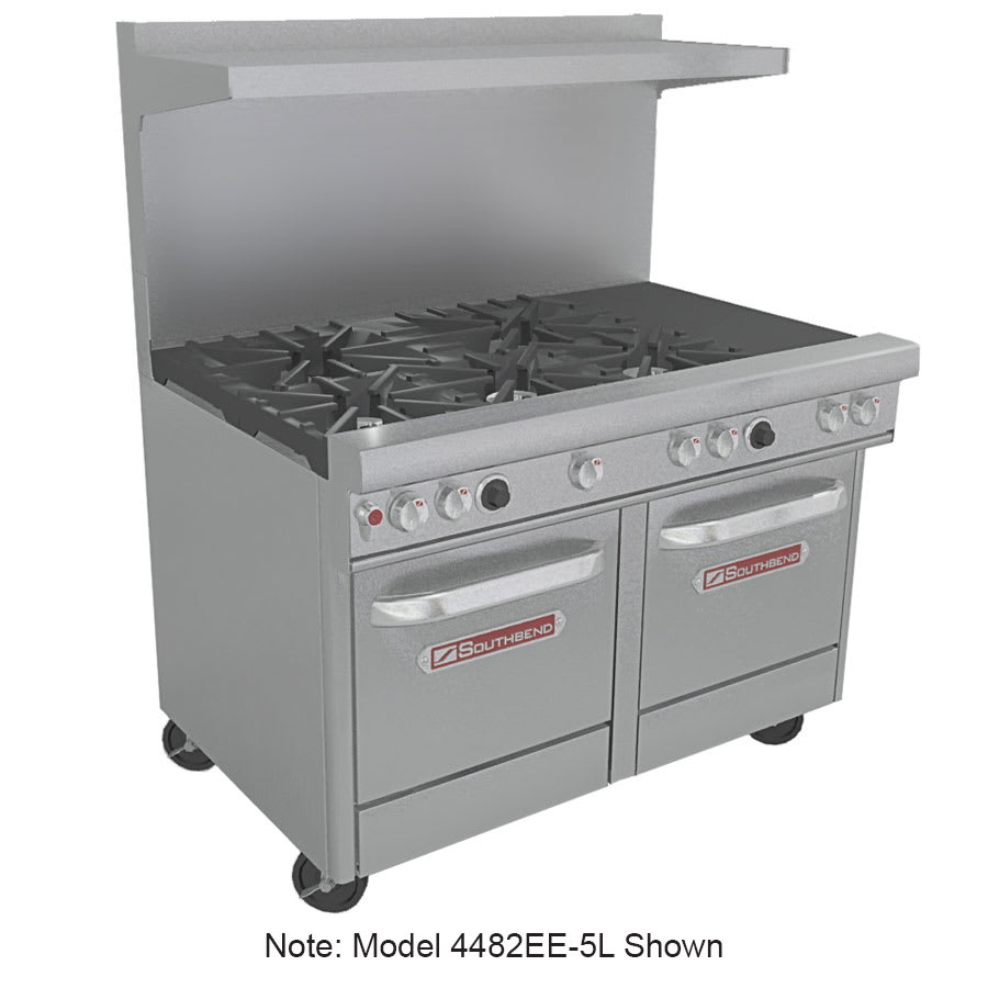 "Southbend 4483EE-2TR 48"" 4-Burner Gas Range with Griddle, LP"