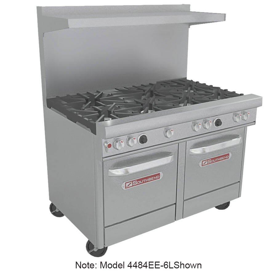 "Southbend 4484EE-2TR 48"" 4-Burner Gas Range with Griddle, LP"