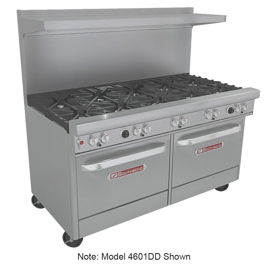 """Southbend 4601DD-2TR 60"""" 6-Burner Gas Range with Griddle, LP"""
