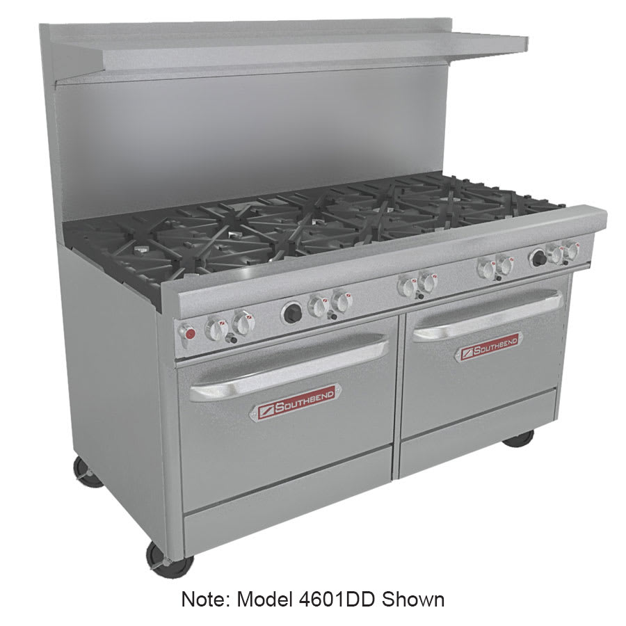 """Southbend 4602AA-2CR 60"""" 6-Burner Gas Range with Charbroiler, NG"""