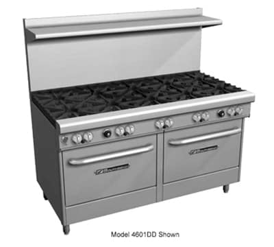 "Southbend 4602AA-3CL 60"" 4-Burner Gas Range with Charbroiler, LP"