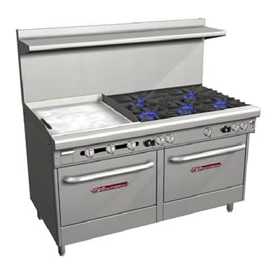 "Southbend 4606AA-2TL 60"" 5-Burner Gas Range with Griddle, LP"