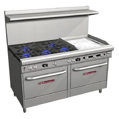 "Southbend 4606AA-2TR 60"" 5-Burner Gas Range with Griddle, LP"
